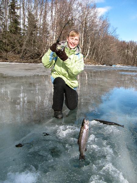 Ice fishing winter alaska fishing guide fishtale for Ice fishing show